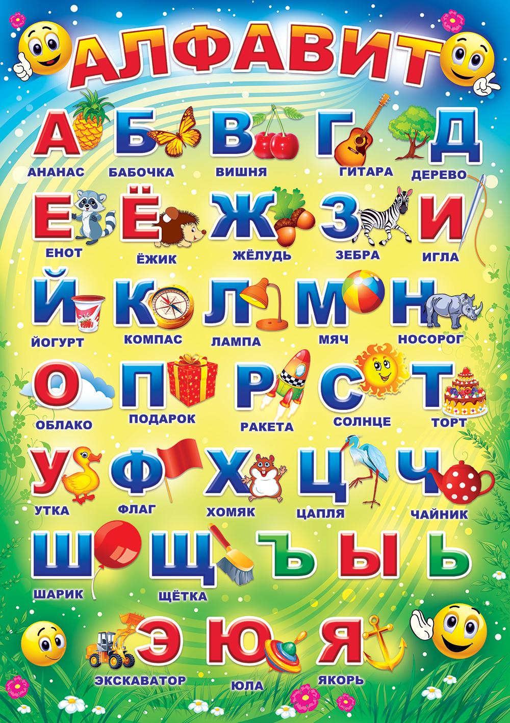 Учим азбуку с картинками