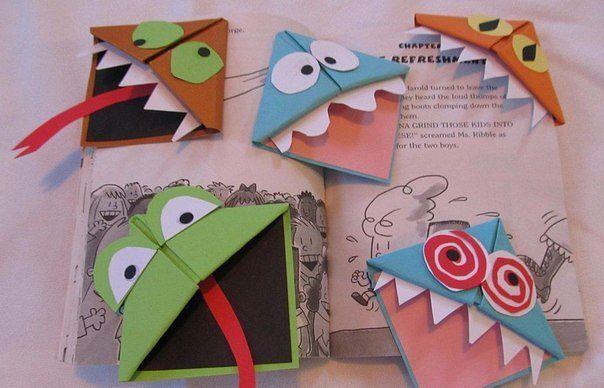 Как сделать закладки на книжки из бумаги